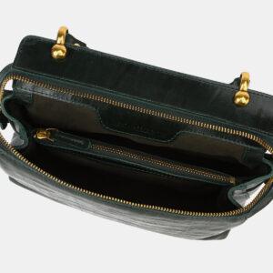 Солидная зеленая женская сумка ATS-4135 236617