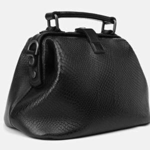 Кожаная черная женская сумка ATS-4136 236610