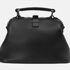 Кожаная черная женская сумка ATS-4136 236611