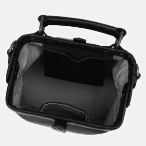 Кожаная черная женская сумка ATS-4136 236612