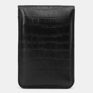 Кожаный черный женский клатч ATS-4137 236606