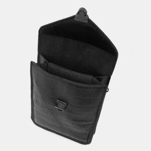 Кожаный черный женский клатч ATS-4137 236607