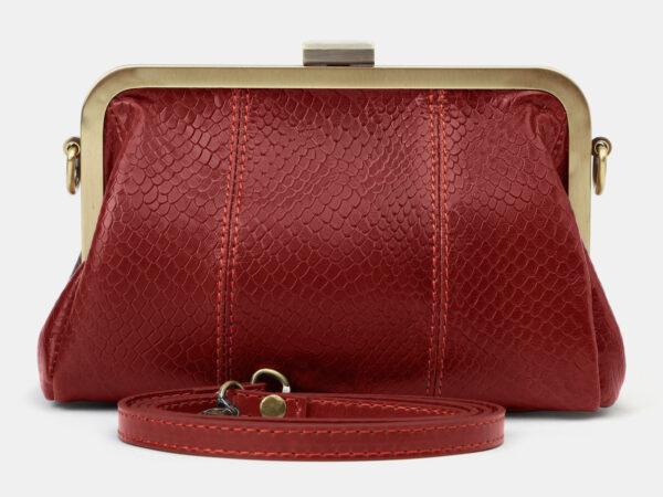 Вместительный красный женский клатч ATS-4143