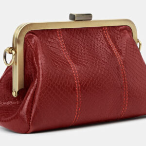 Вместительный красный женский клатч ATS-4143 236578