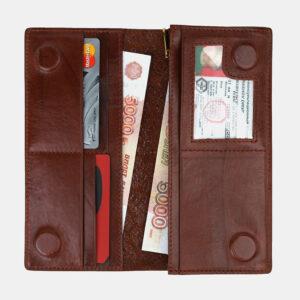 Стильный светло-коричневый кошелек ATS-4130 236639