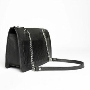Кожаная черная женская сумка FBR-2195 236768