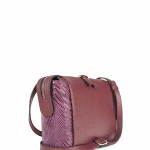 Кожаная бордовая женская сумка через плечо FBR-2477 236828