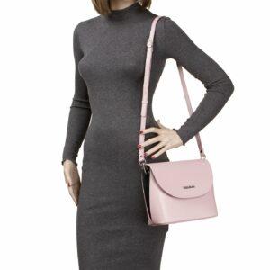 Стильная розовая женская сумка FBR-2188 236760