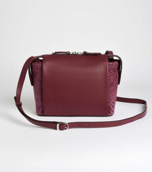 Кожаная бордовая женская сумка через плечо FBR-2477