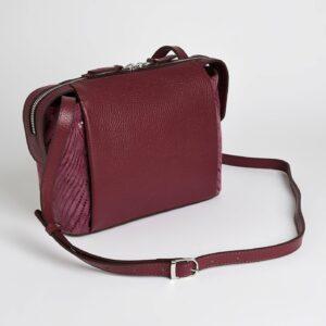 Кожаная бордовая женская сумка через плечо FBR-2477 236832