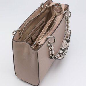 Кожаная бежевая женская сумка FBR-2884 236899