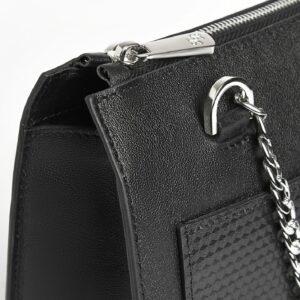 Кожаная черная женская сумка FBR-2195 236769