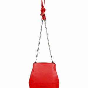 Кожаная красная женская сумка FBR-2181