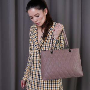 Неповторимая бежевая женская сумка FBR-2389 236817