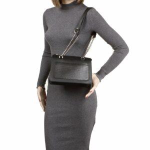 Кожаная черная женская сумка FBR-2195 236765