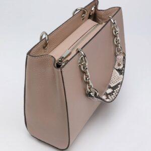 Кожаная бежевая женская сумка FBR-2884 236898