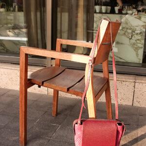 Кожаная бордовая женская сумка через плечо FBR-2477 236839