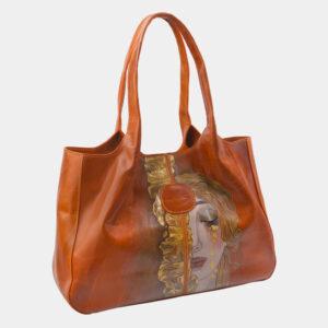 Уникальная оранжевая сумка с росписью ATS-2815 237299