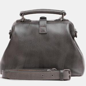 Солидная серая женская сумка ATS-3809