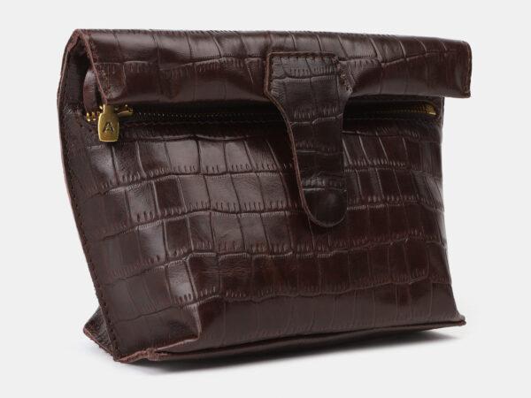 Функциональный коричневый женский клатч ATS-4150