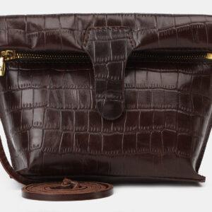 Функциональный коричневый женский клатч ATS-4150 237104