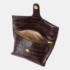 Функциональный коричневый женский клатч ATS-4150 237106