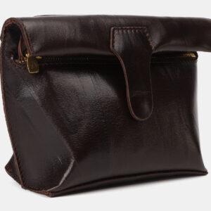 Солидный коричневый женский клатч ATS-4149