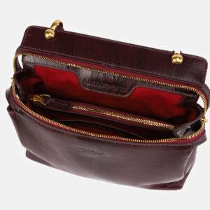 Модная бордовая женская сумка ATS-3437 237225