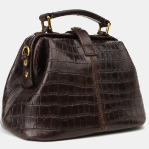 Удобная коричневая женская сумка ATS-4173 237198