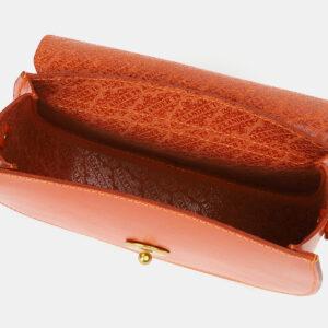 Функциональный оранжевый женский клатч ATS-4183 237152