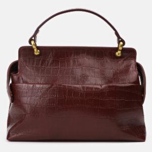 Кожаная бордовая женская сумка ATS-4186 237135
