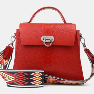 Удобная красная женская сумка ATS-4198