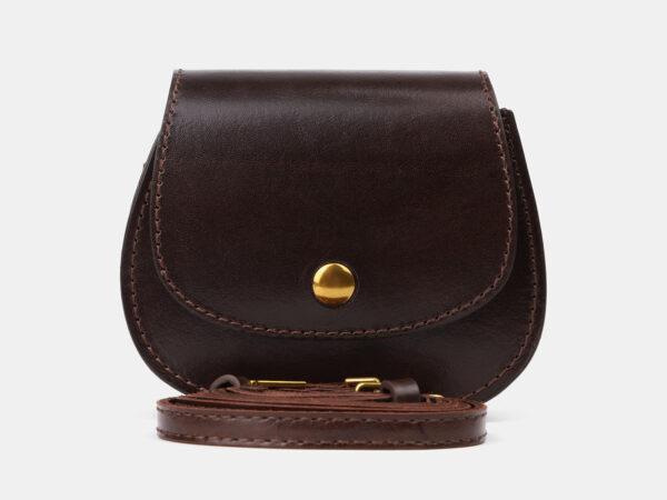 Вместительный коричневый женский клатч ATS-4194