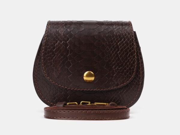 Удобный коричневый женский клатч ATS-4195