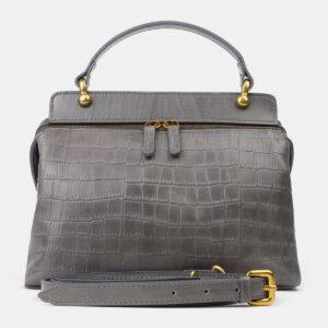 Вместительная серая женская сумка ATS-4193