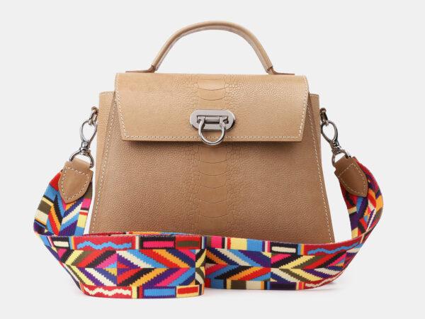 Вместительная бежевая женская сумка ATS-4196
