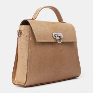 Вместительная бежевая женская сумка ATS-4196 237243