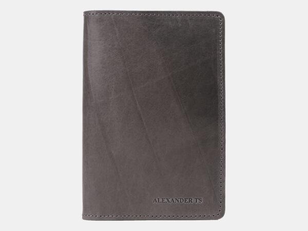 Уникальная серая обложка для паспорта ATS-4189