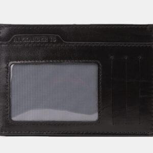 Кожаная черная визитница ATS-4192 237263