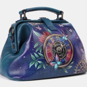 Деловая зеленовато-голубая сумка с росписью ATS-4178 237228