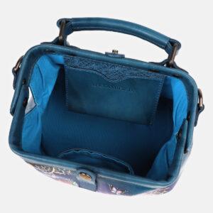 Деловая зеленовато-голубая сумка с росписью ATS-4178 237230