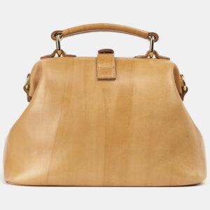 Солидная бежевая сумка с росписью ATS-4176 237185