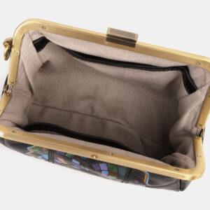 Удобный черный клатч с росписью ATS-4181 237162