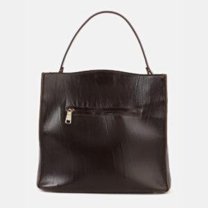 Вместительная коричневая сумка с росписью ATS-4180 237166