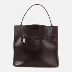 Функциональная коричневая сумка с росписью ATS-4179 237170