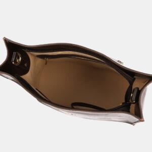 Функциональная коричневая сумка с росписью ATS-4179 237172