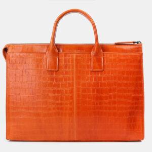 Функциональный оранжевый мужской портфель ATS-4200