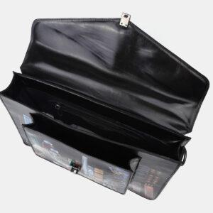 Стильный черный портфель с росписью ATS-4201 237357
