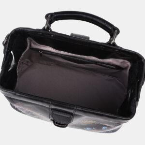 Удобная черная сумка с росписью ATS-4204 237347