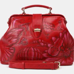Модная красная сумка с росписью ATS-4206
